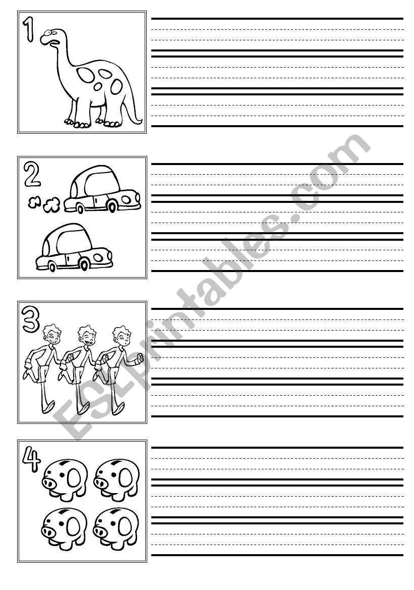 Numbers Handwriting practice worksheet
