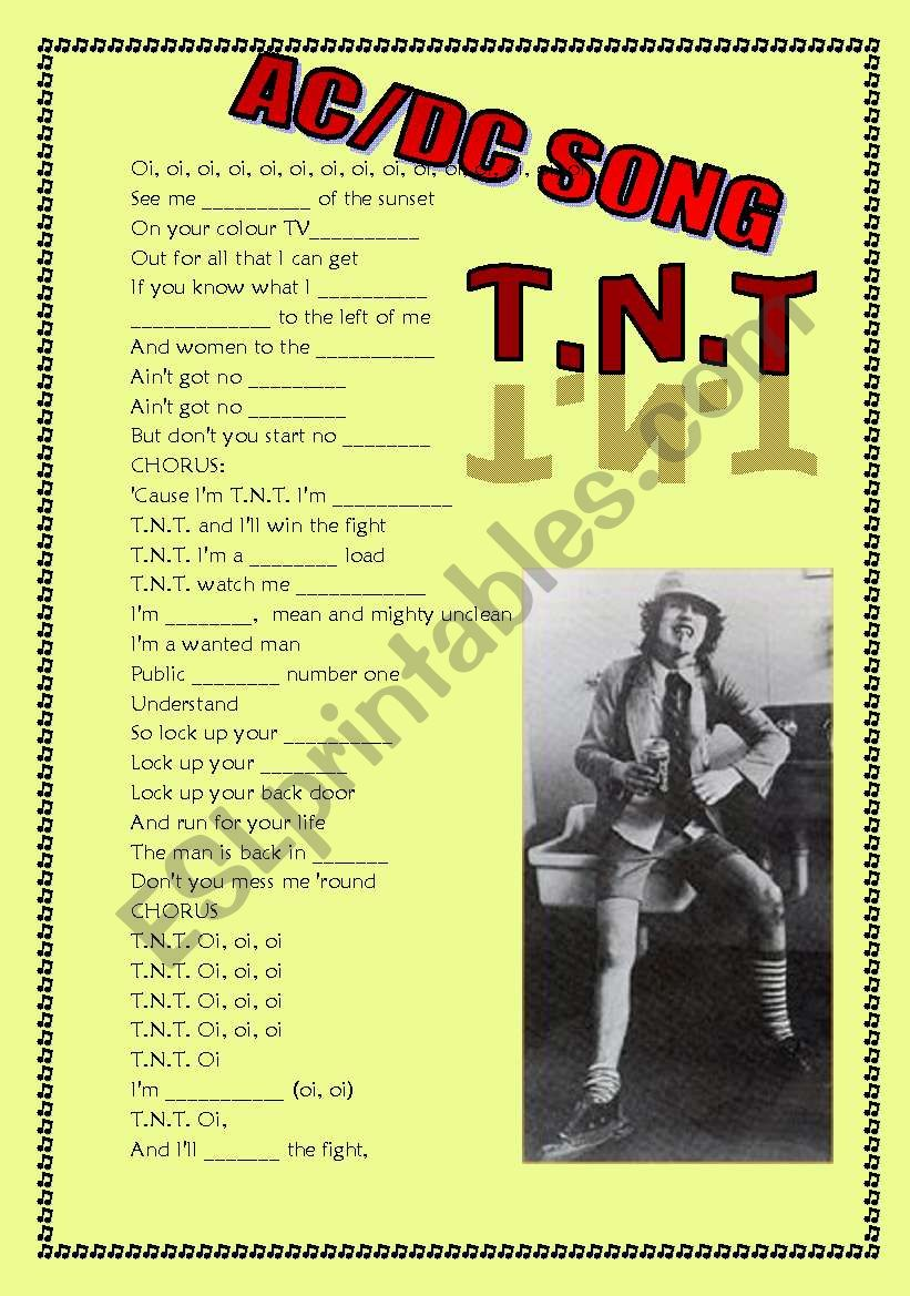 tnt song (exercises, speaking, reading and listening)