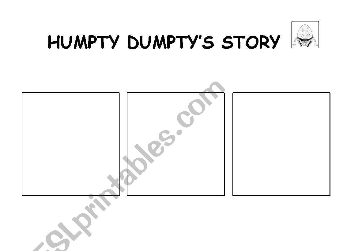 Humpty dumpty´s story worksheet