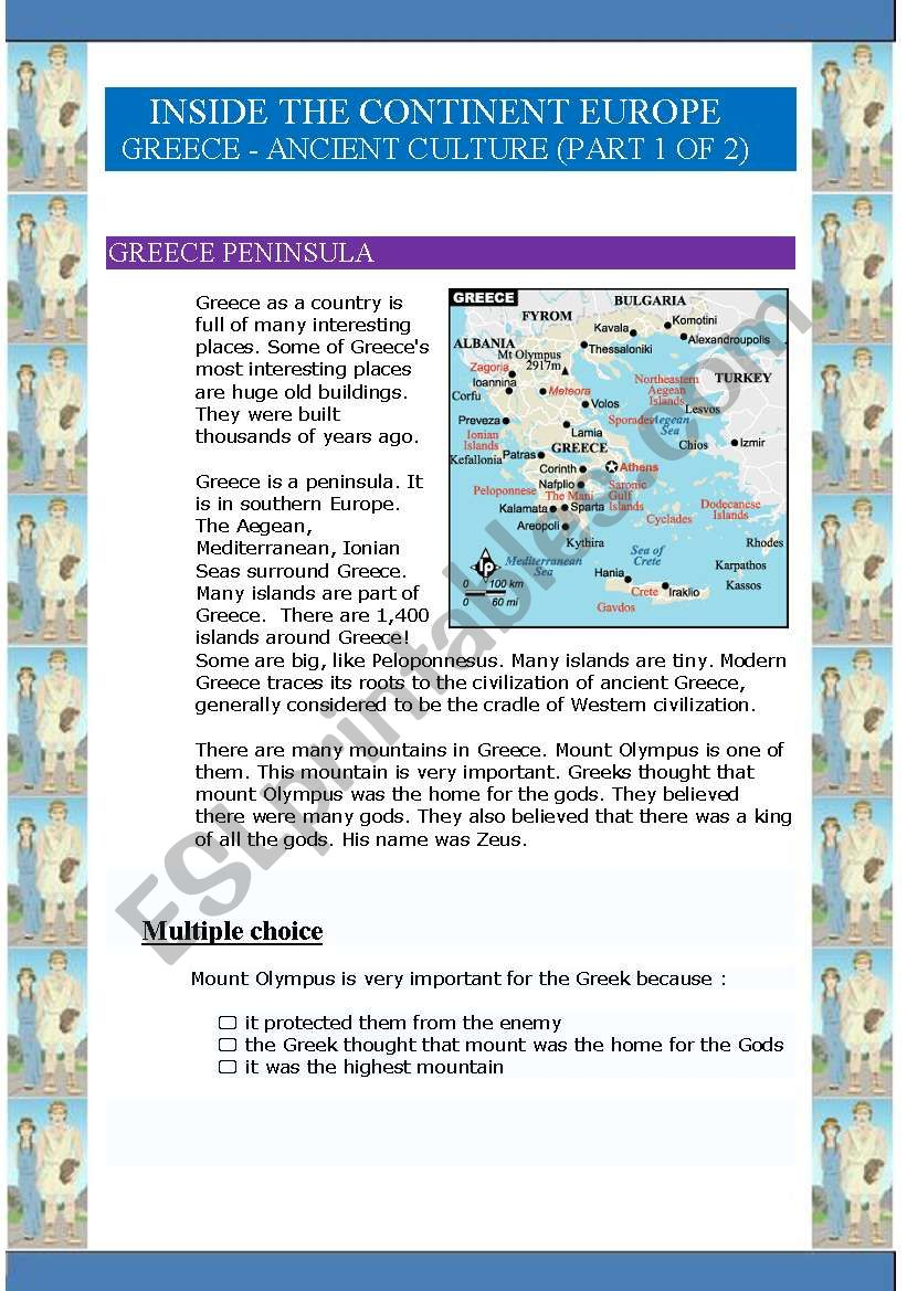 Inside the continent Europe - Greece (9 pages) (Part 1 of 2)