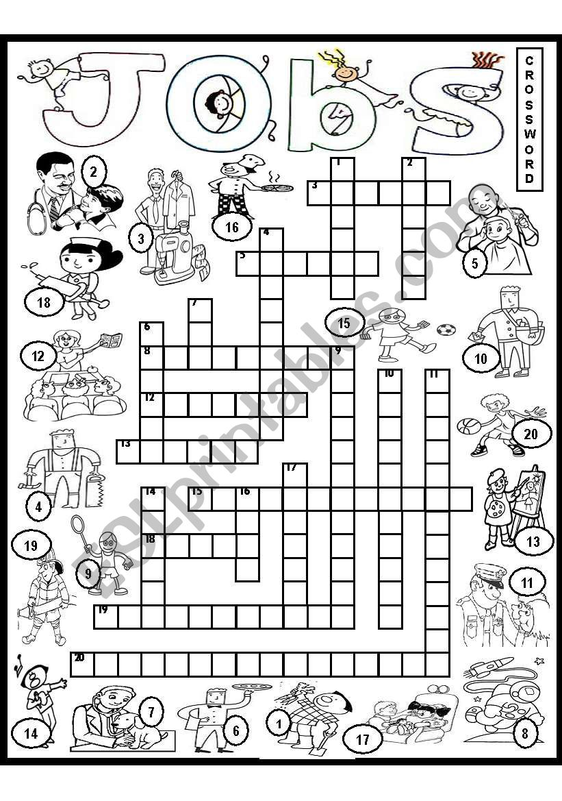 Jobs and Occupations Crossword