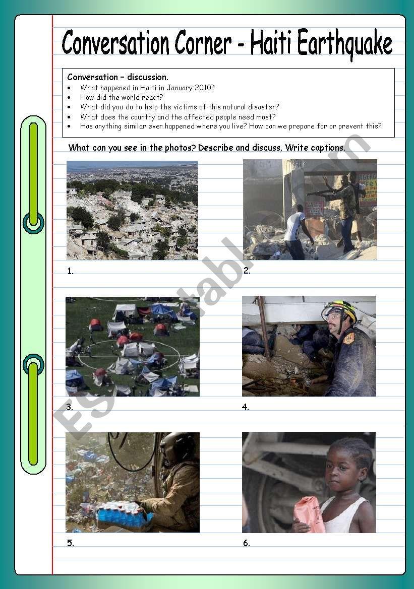 Conversation Corner - Haiti Earthquake