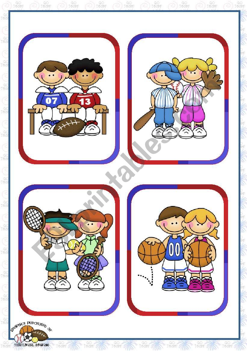 Sports Set (1)  - Individual and Team Sports Flashcards (16)
