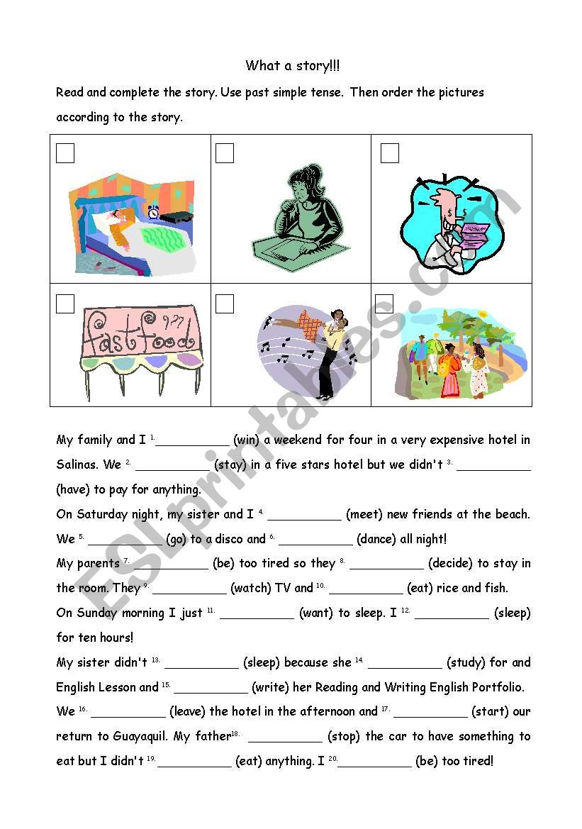 WHAT A STORY!!! worksheet