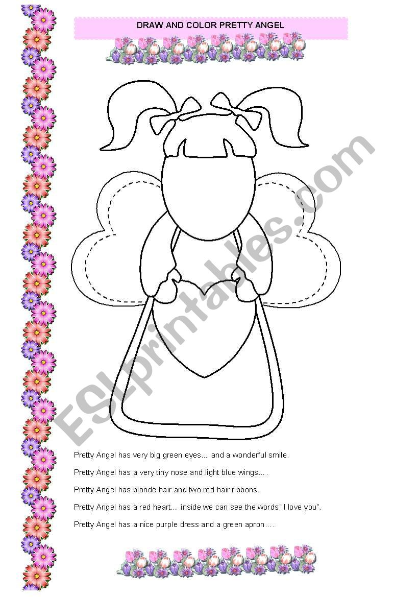 Pretty Angel worksheet
