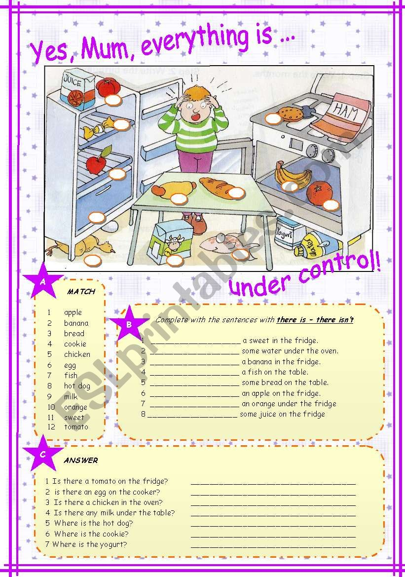 there is isn t food prepositions esl worksheet by vivi quir. Black Bedroom Furniture Sets. Home Design Ideas
