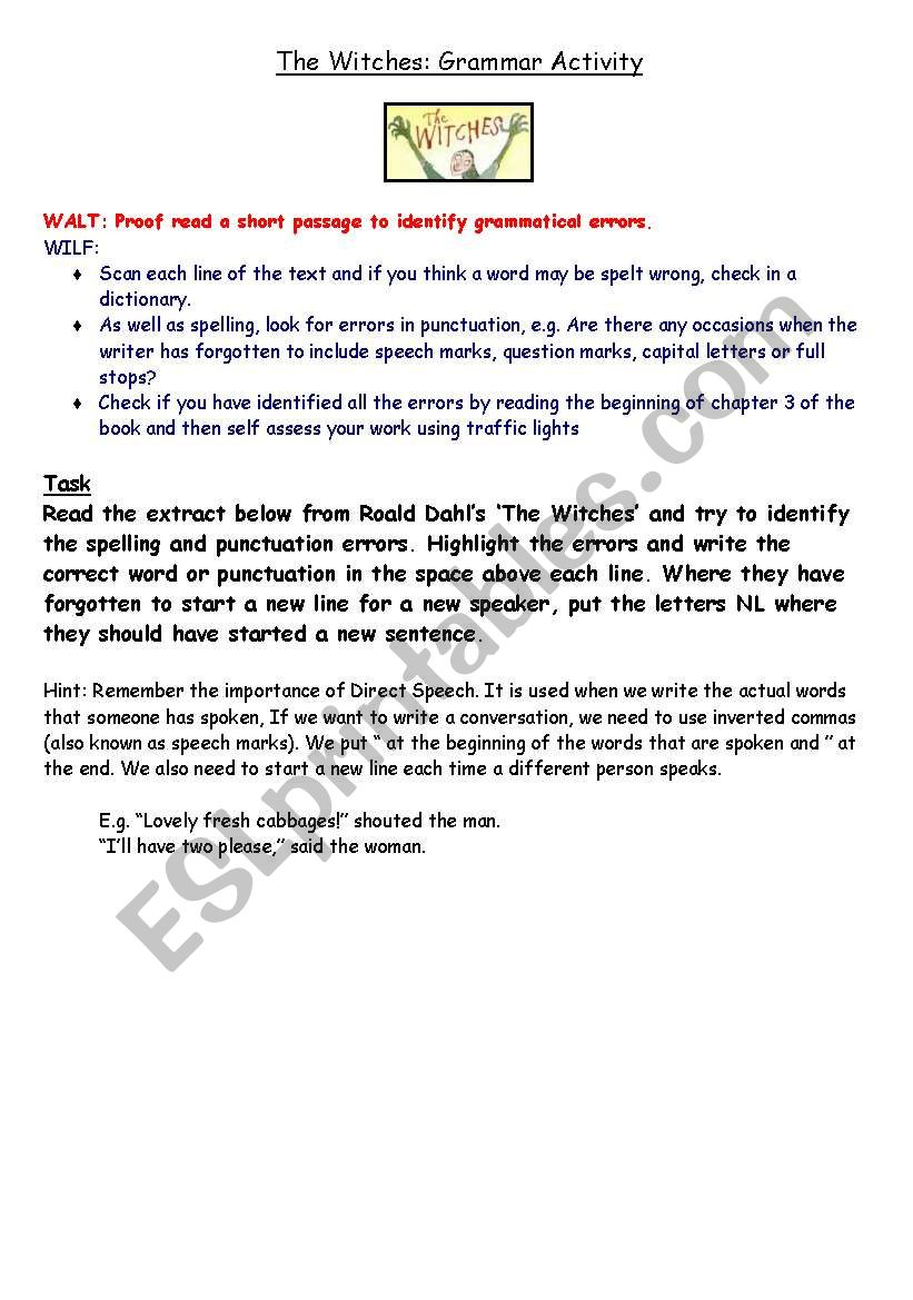 the witches roald dahl read online pdf
