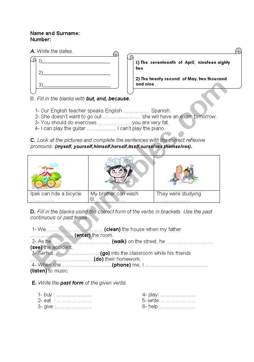 English worksheets: quiz