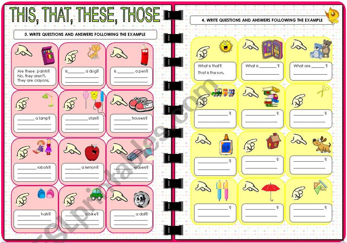 Demonstratives: THIS - THAT - THESE - THOSE (2 of 2). Editable