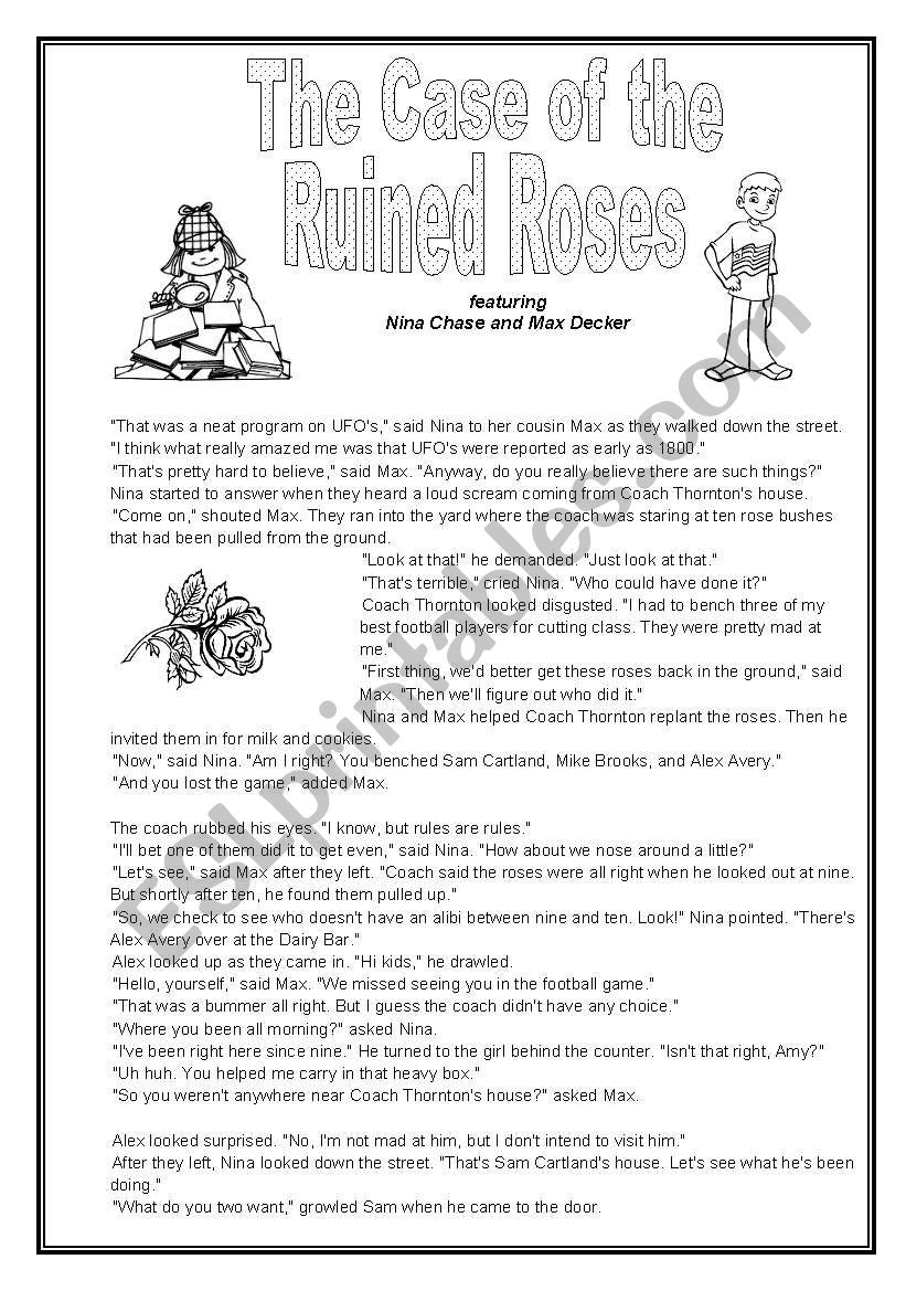 The Case of the Ruined Roses (Mystery to Solve)