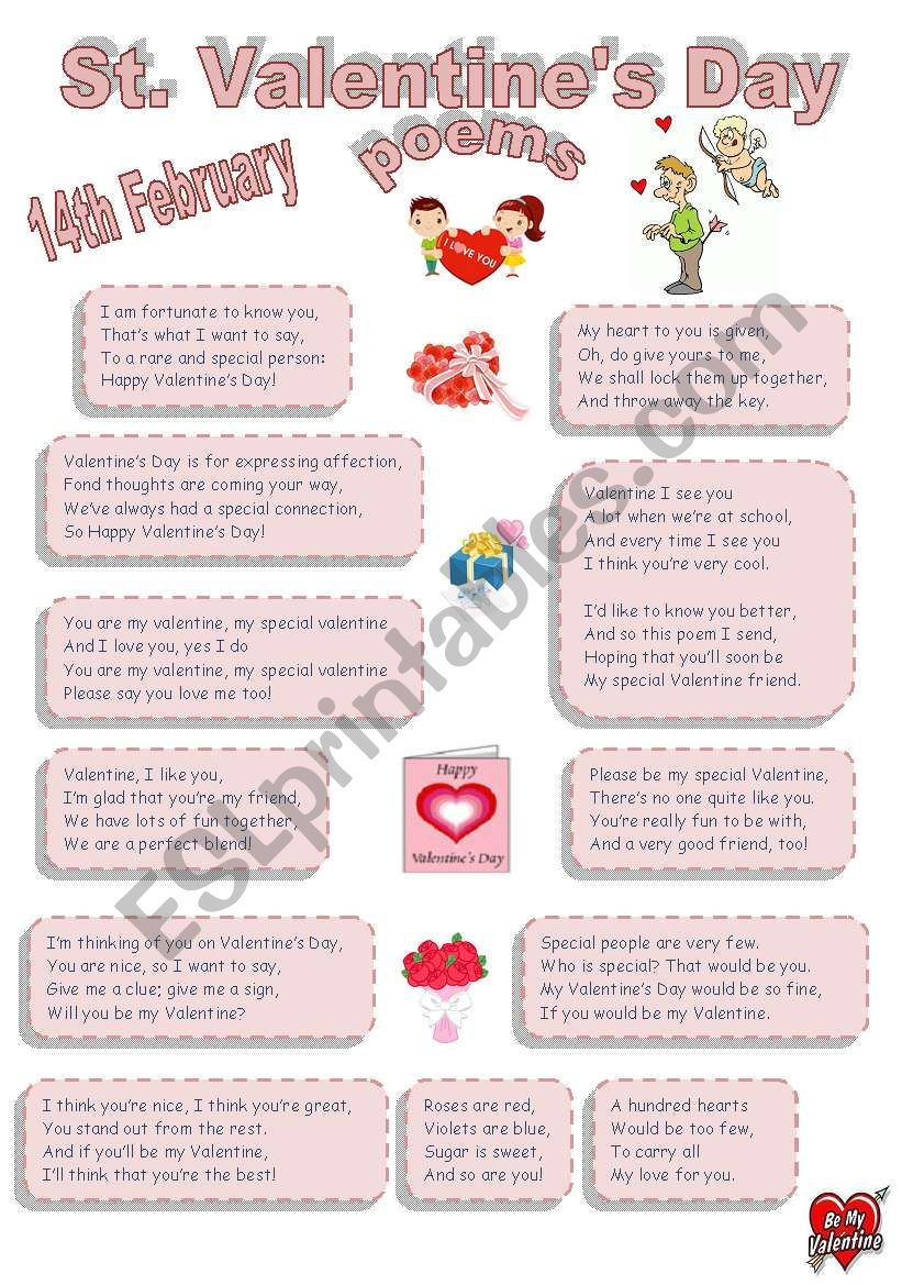 St. Valentine´s Day poems for youngsters