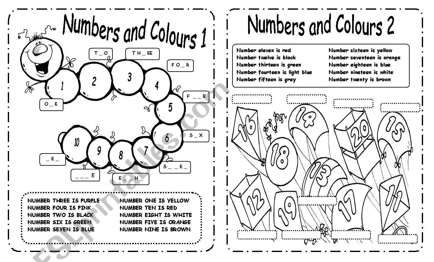 NUMBERS   +  COLOURS  ---  B&W