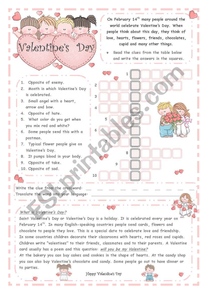 VALENTINE´S DAY *** 2 pages***