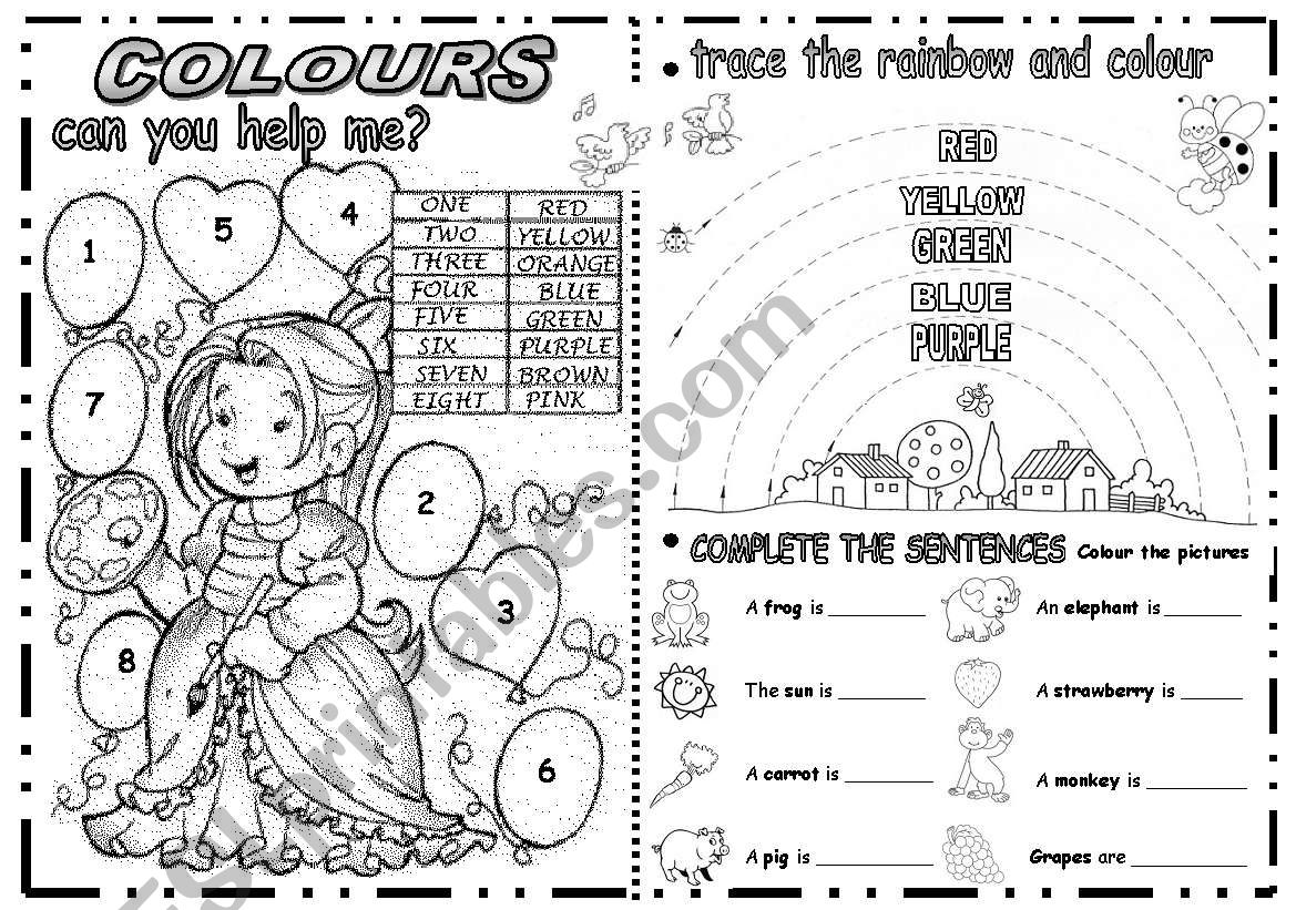 ACTIVITIES WITH COLOURS worksheet