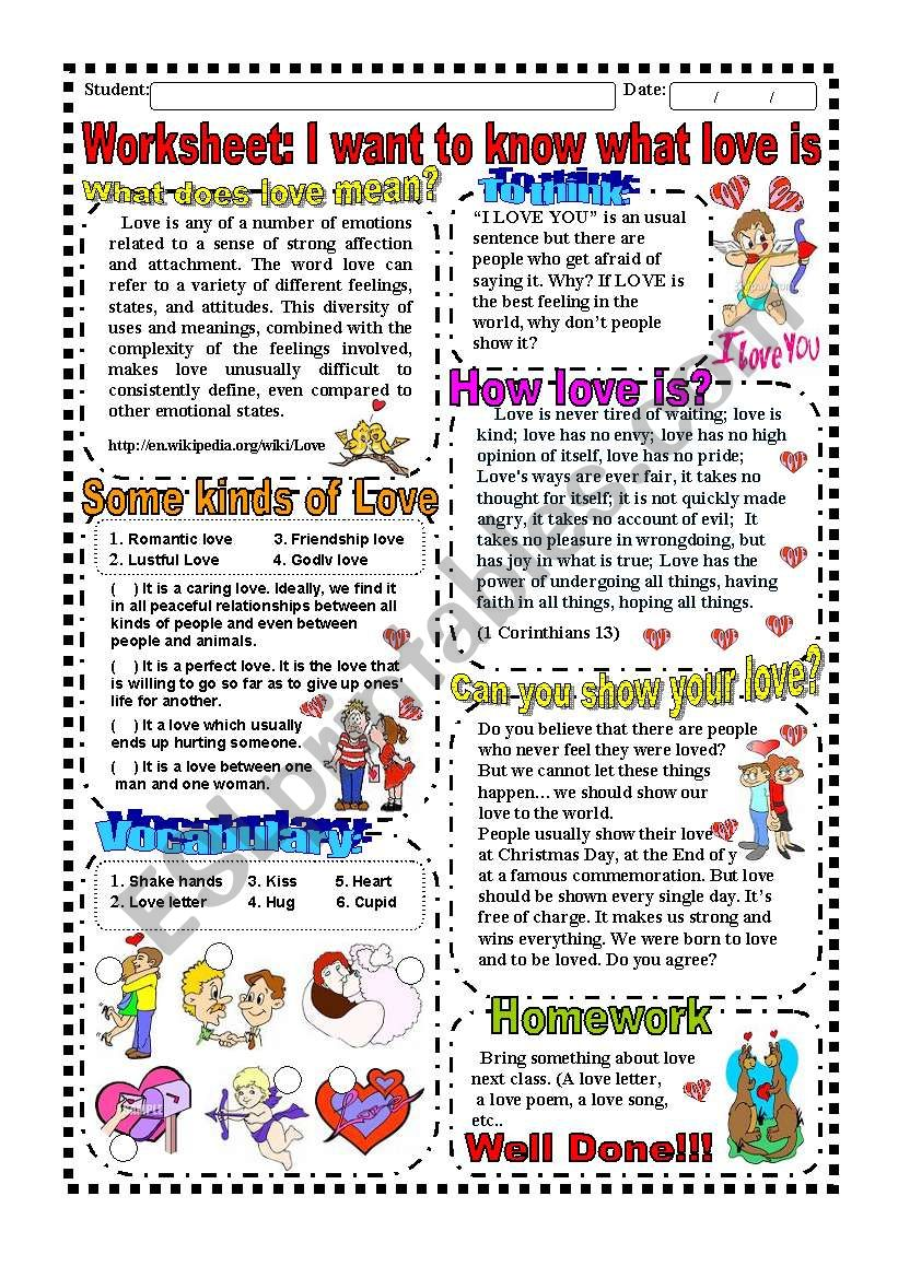 Worksheet: Valentine´s day (Texts, Activity, Song, Answer Key)