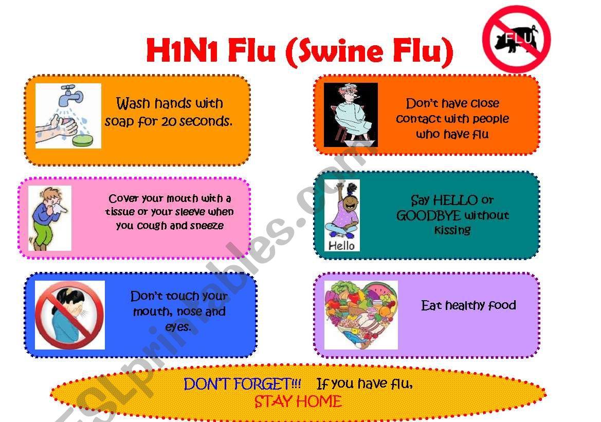 H1N1 Classroom Poster worksheet
