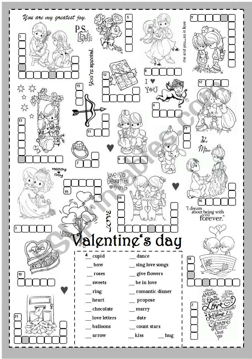 St Valentine´s day (puzzle) worksheet