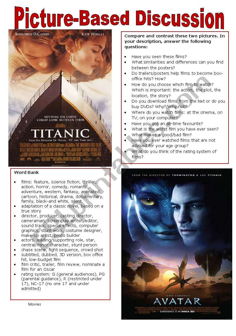 Picture-Based Discussion (6): Movies