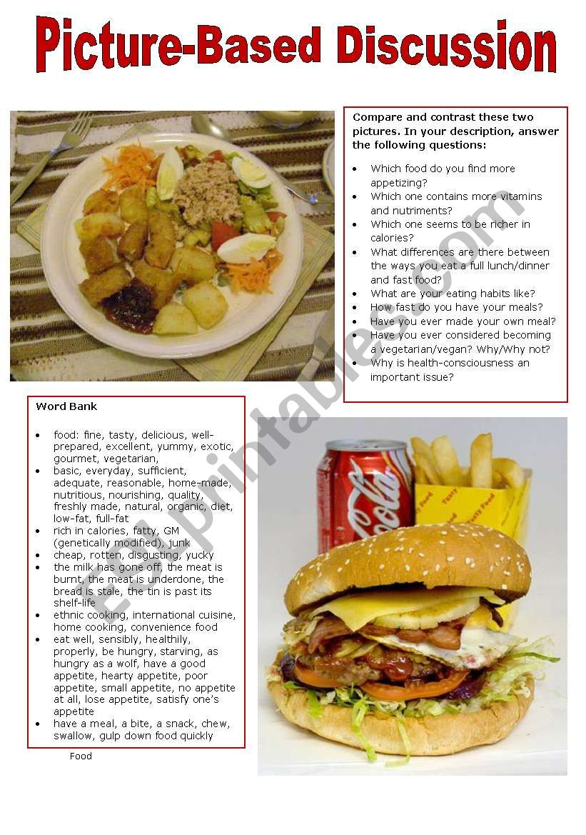 Picture-Based Discussion (7): Food