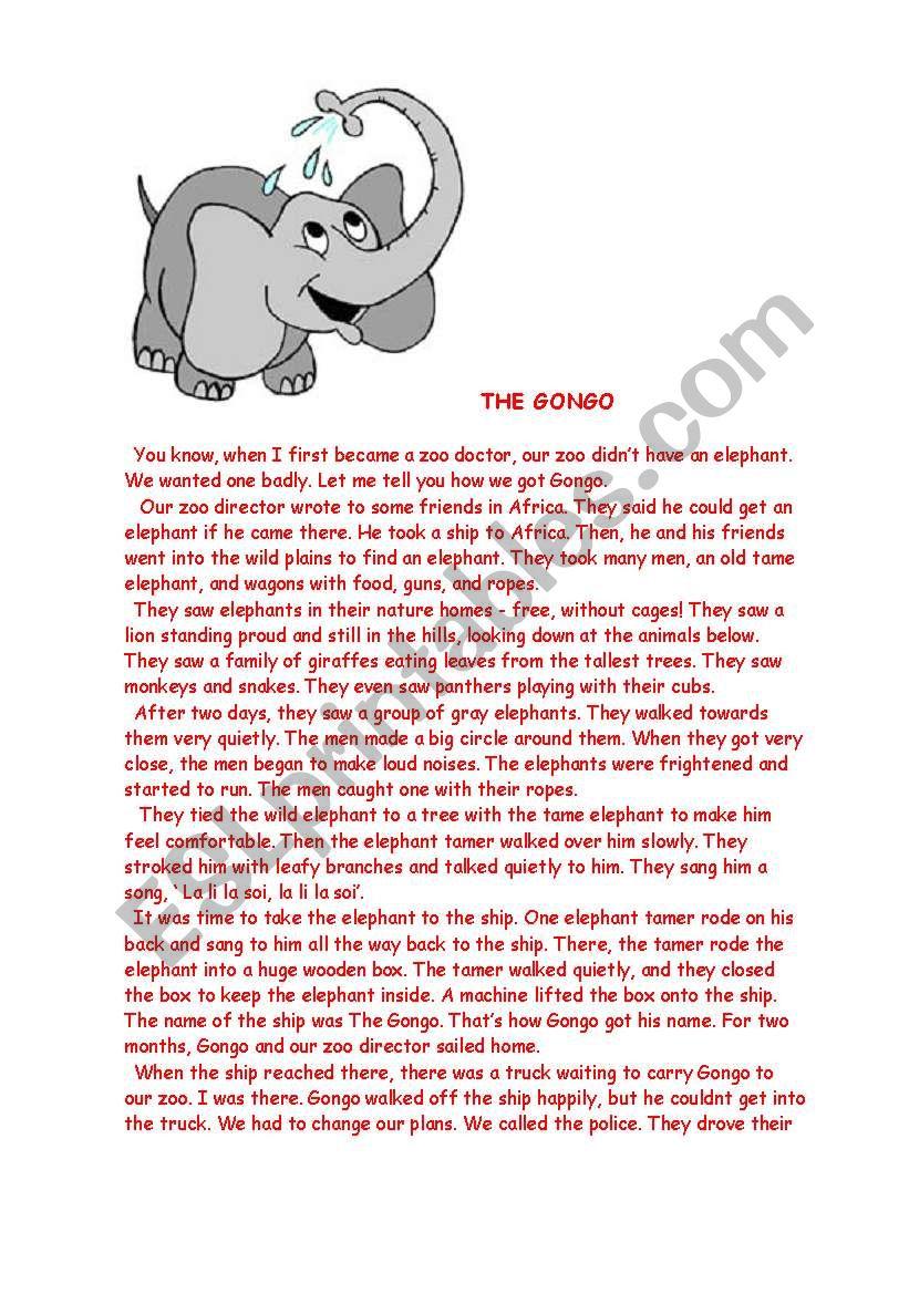 The Gongo worksheet