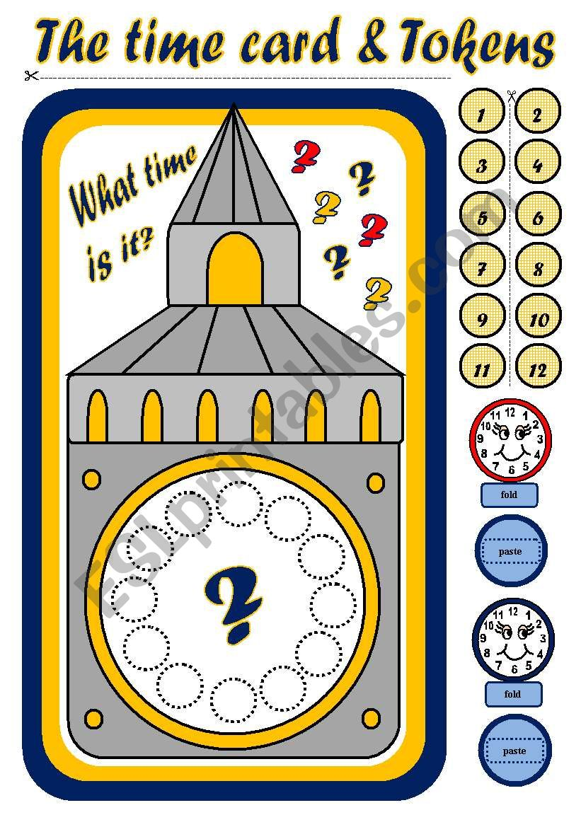 TELLING THE TIME - BOARD GAME (PART 2)