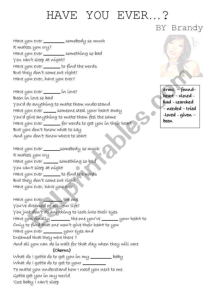 Have you ever...? By Brandy (song)