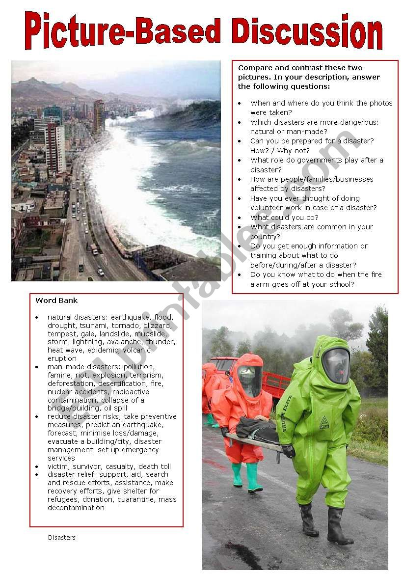 Picture-Based Discussion (9): The Environment (2): Disasters