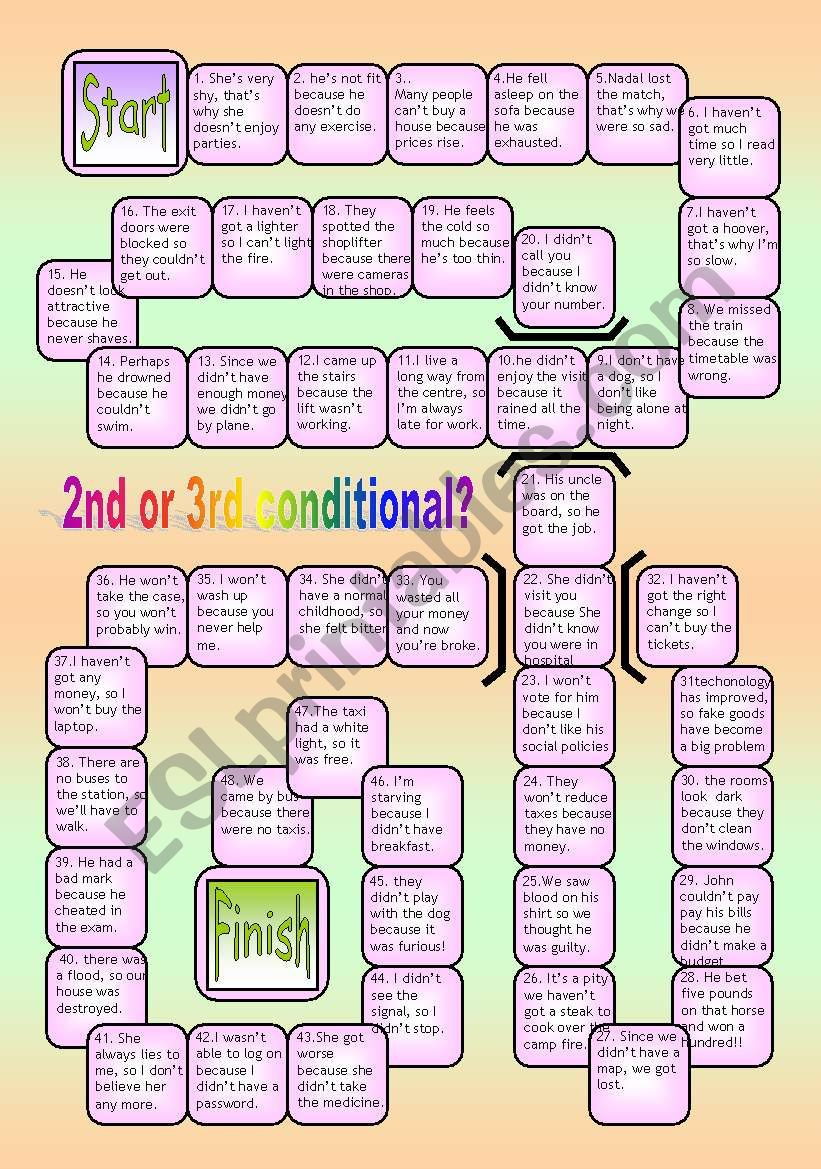2ND AND 3RD CONDITIONAL BOARDGAME WITH KEY