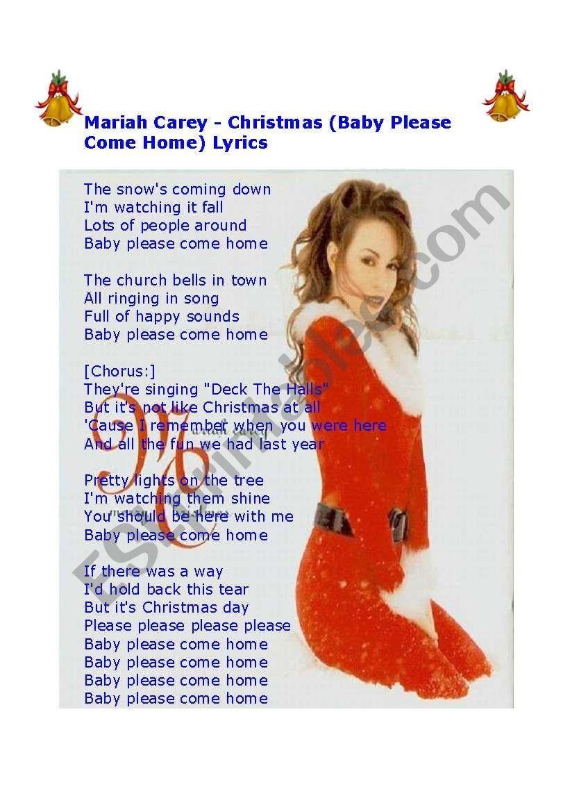 Please Come Home For Christmas Lyrics.Mariah Carey Christmas Baby Please Come Home Lyrics