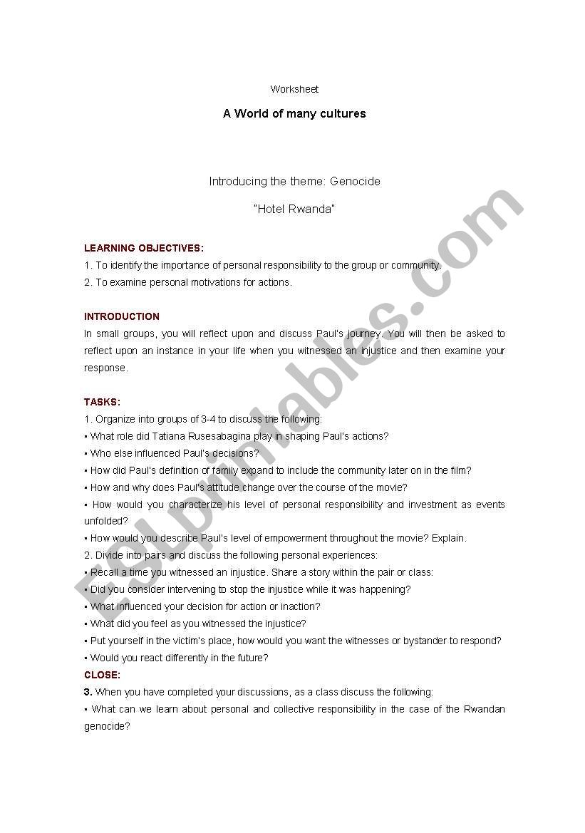 Worksheets Hotel Rwanda Worksheet english worksheets hotel rwanda worksheet