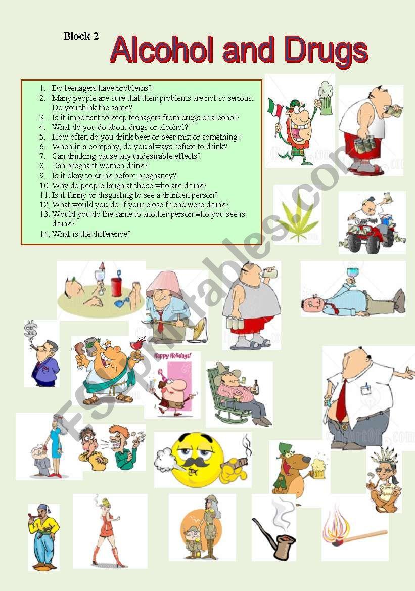 Alcohol and Drugs - ESL worksheet by akuzmenok