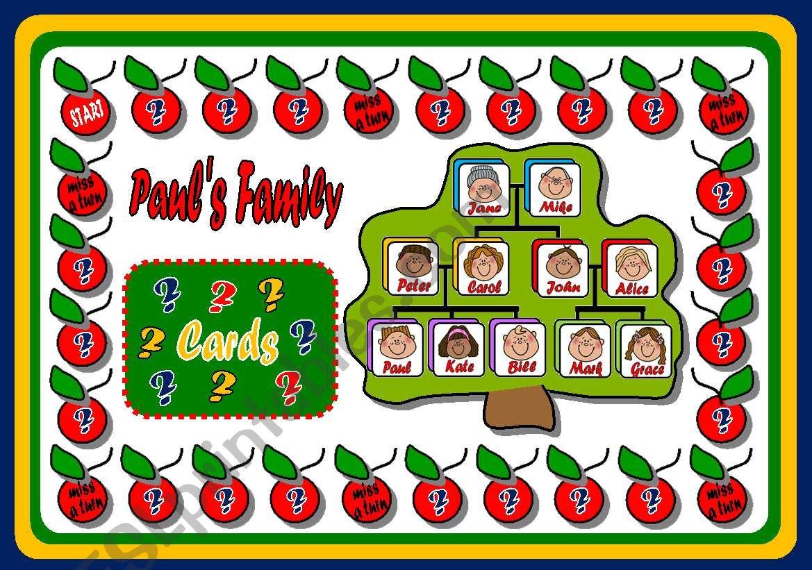 FAMILY BOARD GAME - PART 1 worksheet