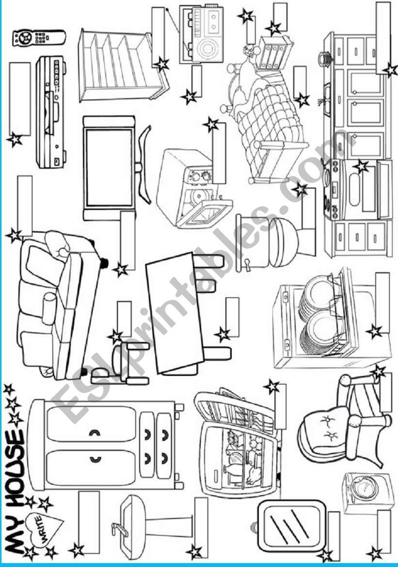 Charming My House:furniture Worksheet