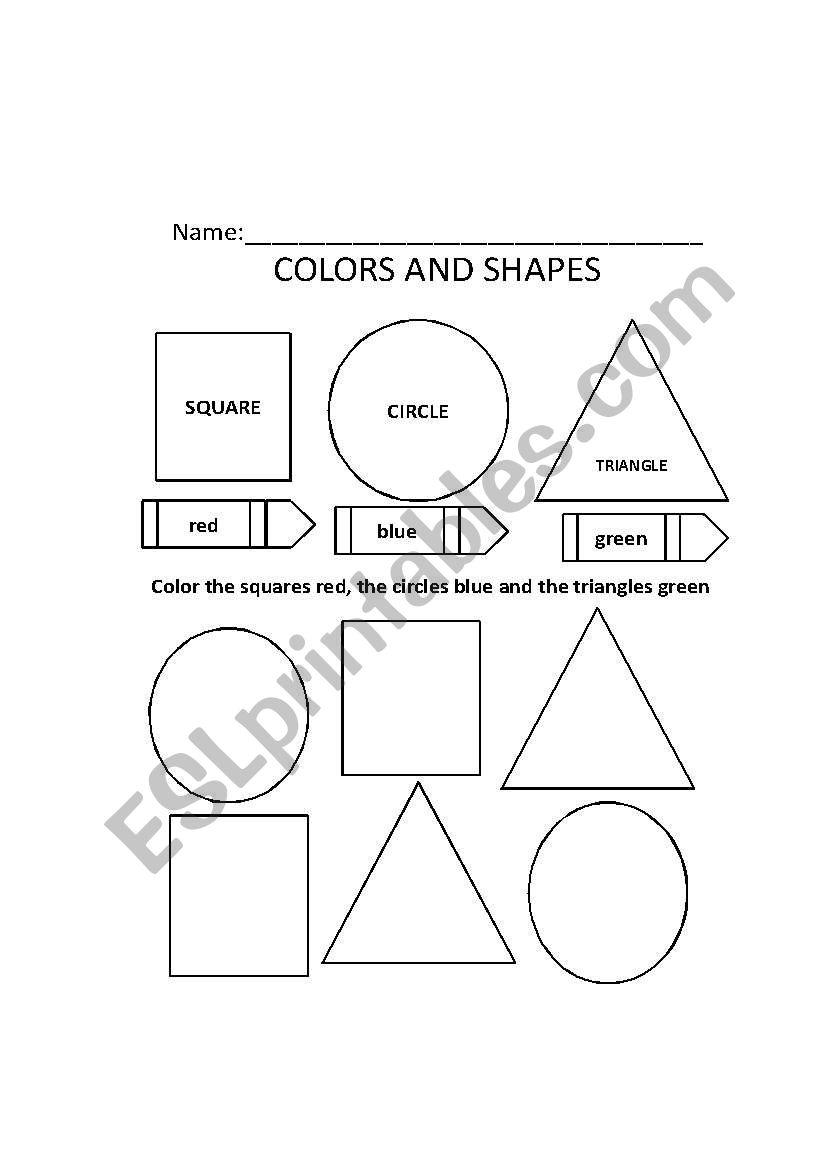 english worksheets colors and shapes. Black Bedroom Furniture Sets. Home Design Ideas