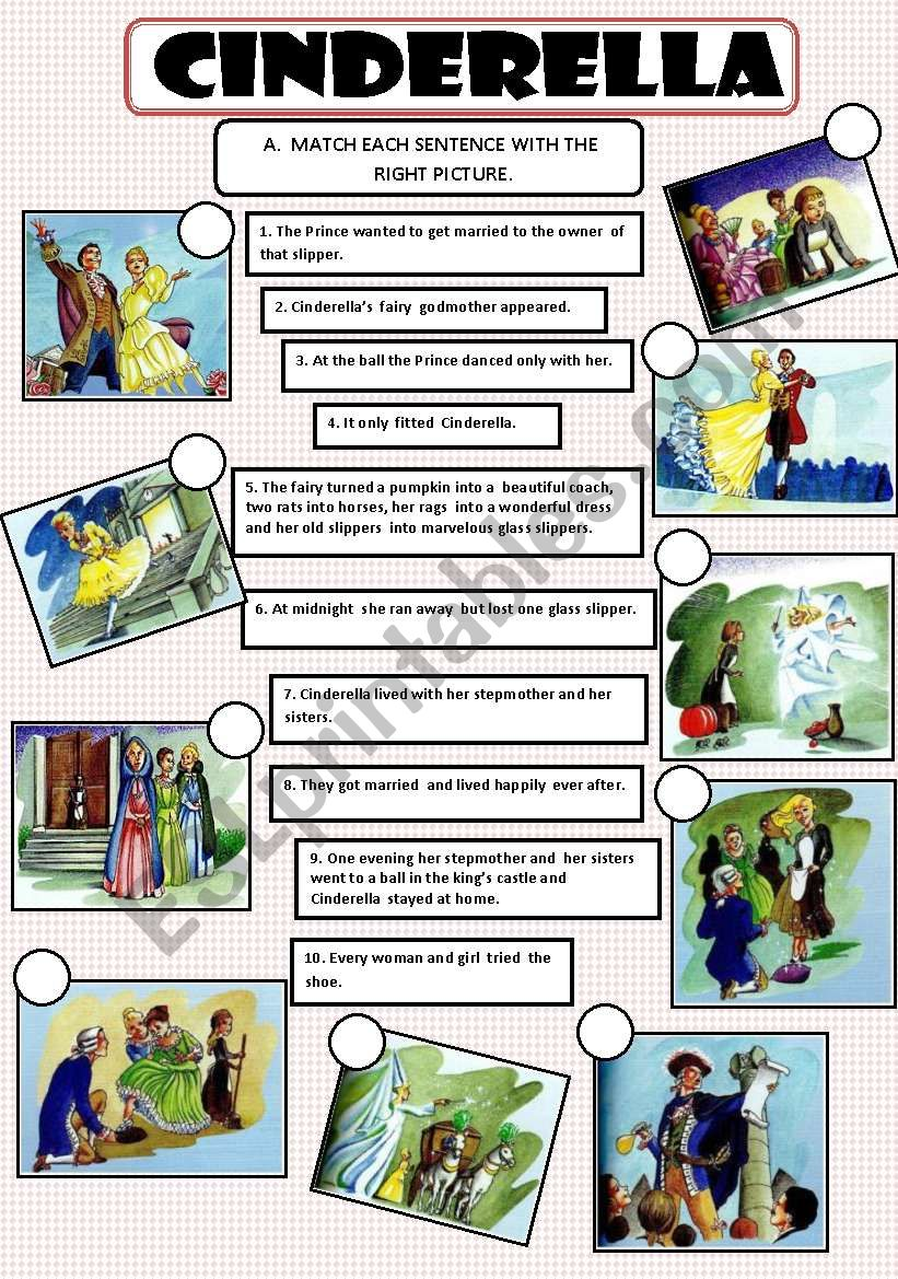 CINDERELLA worksheet