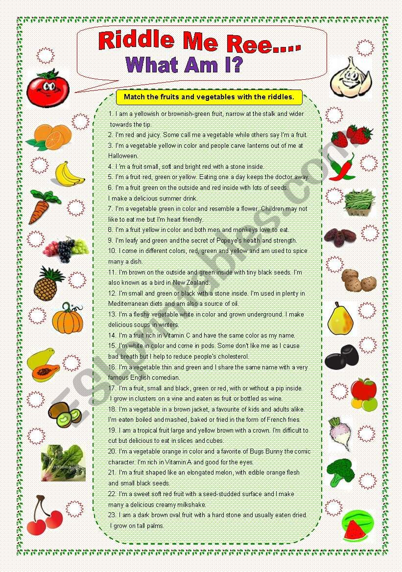 Vegetable riddles with answers 2