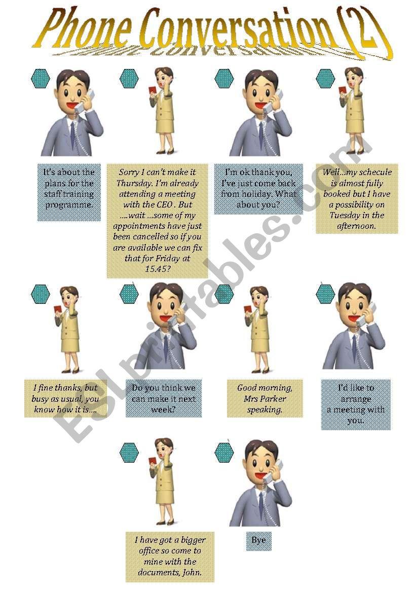 Phone Conversation 2 worksheet
