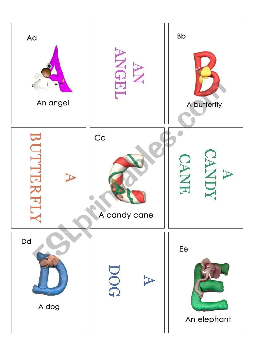 Alphabet Card1 worksheet