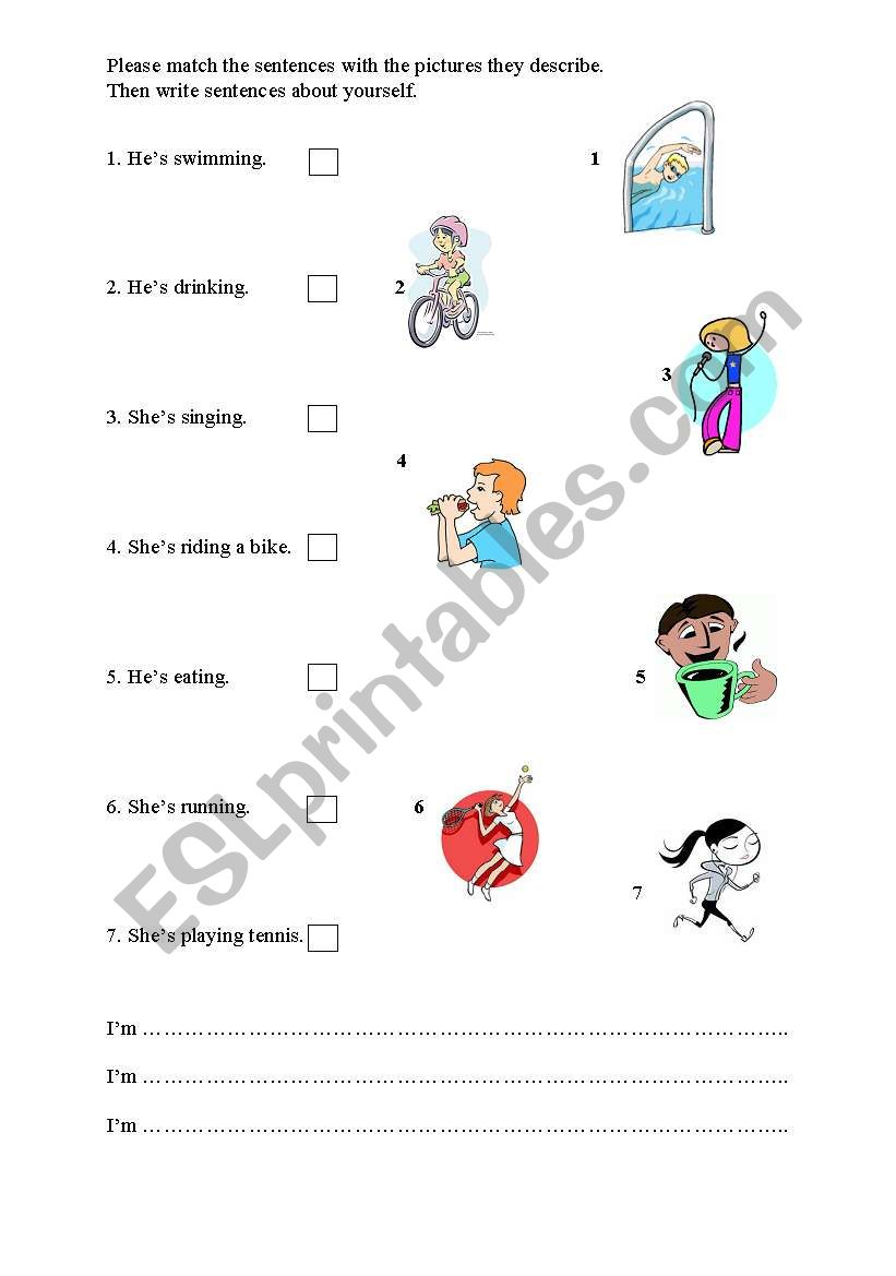 Actions worksheet