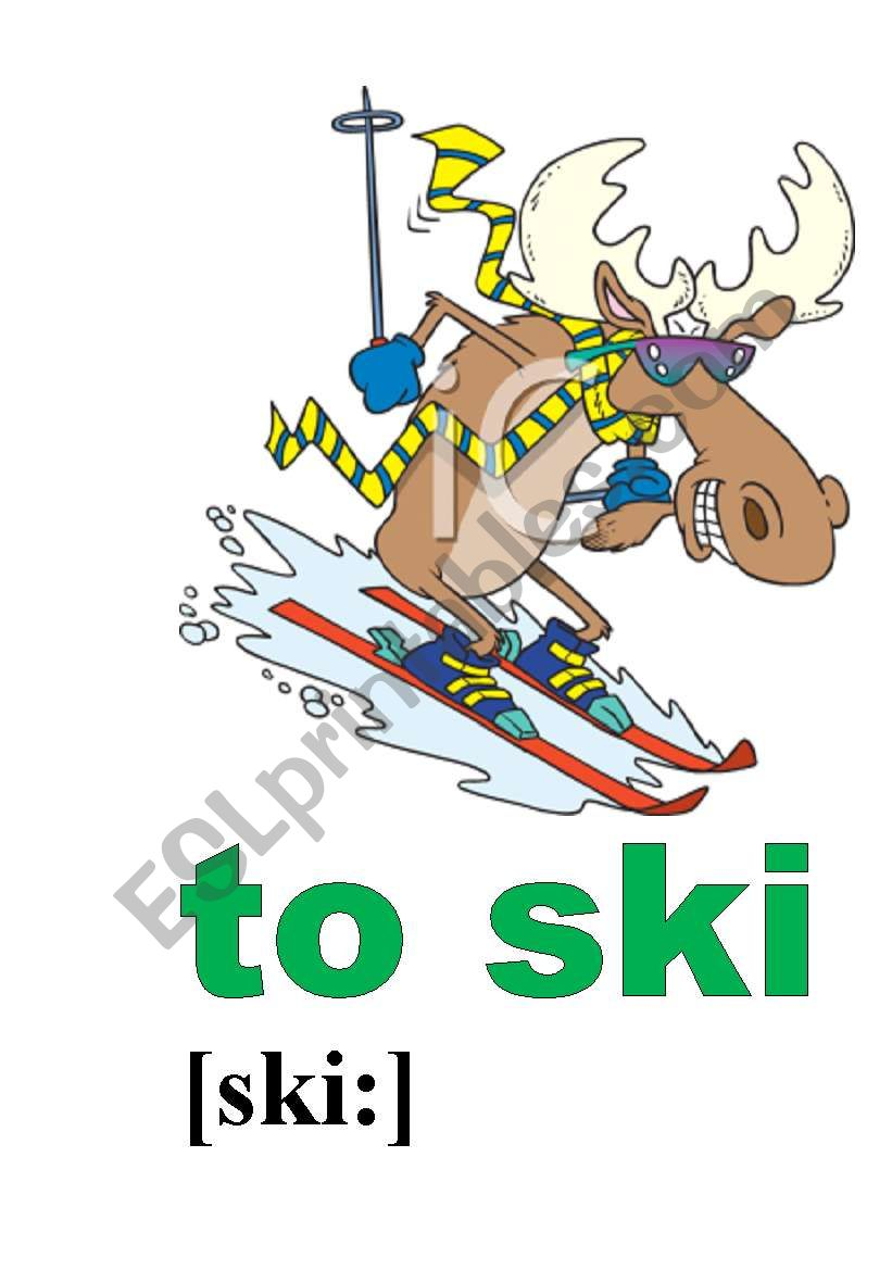 to ski worksheet