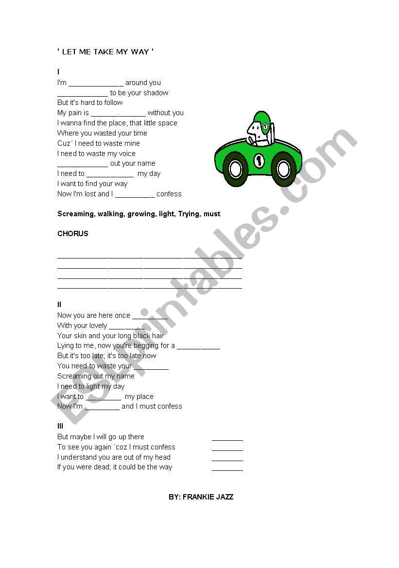 SINGING TIME worksheet