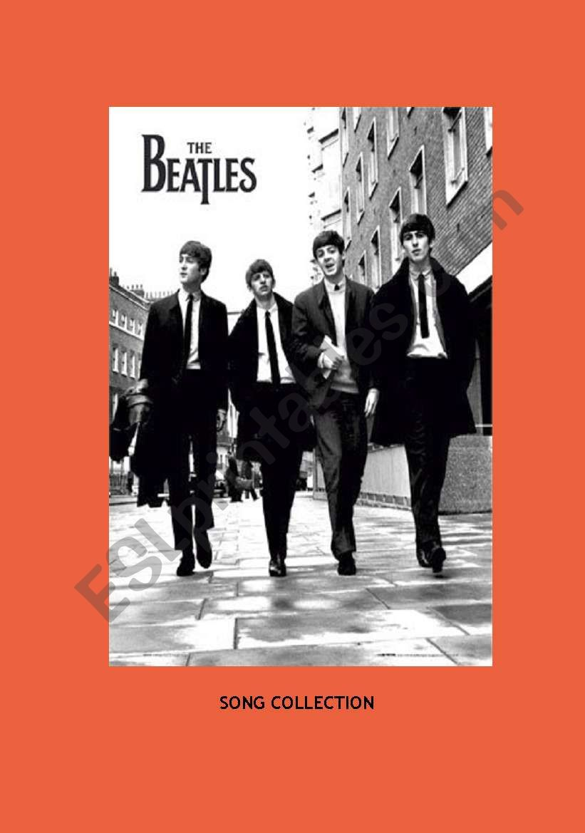 The Beatles- Song Collection worksheet