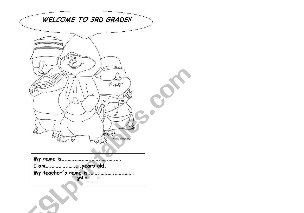 Welcome printable worksheet