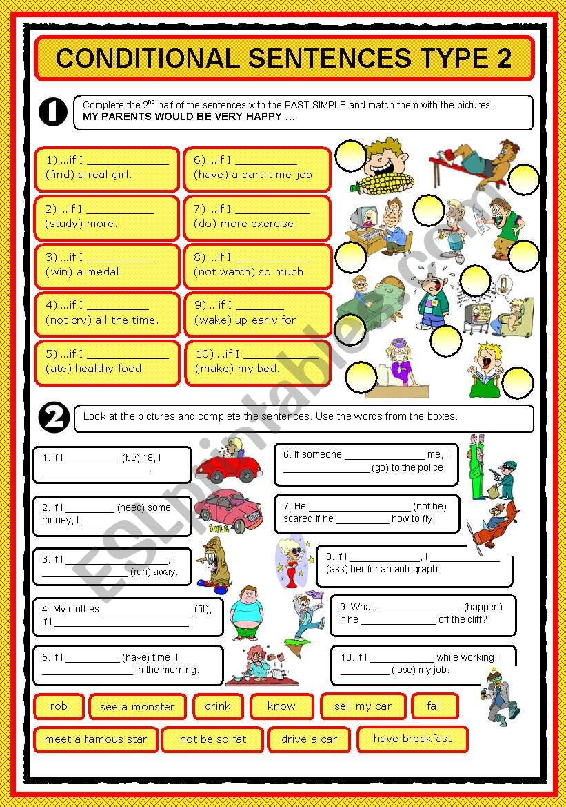 IF-CLAUSES TYPE 2 worksheet