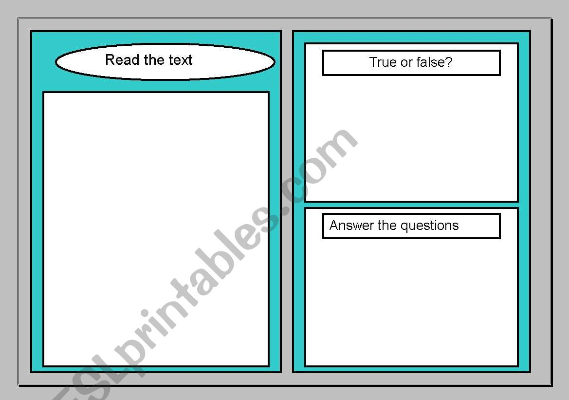 Reading Comprehension Template