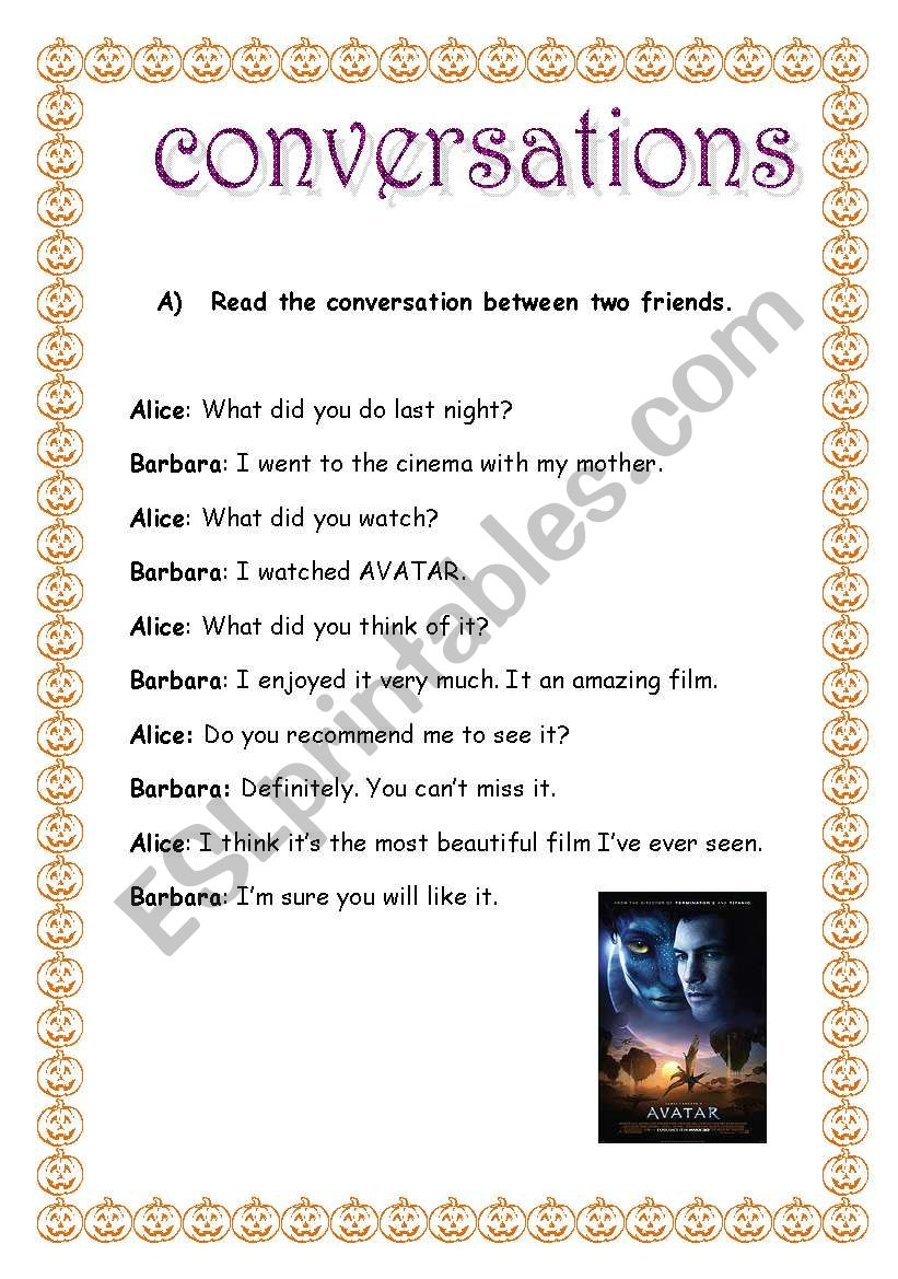 english conversation two friends