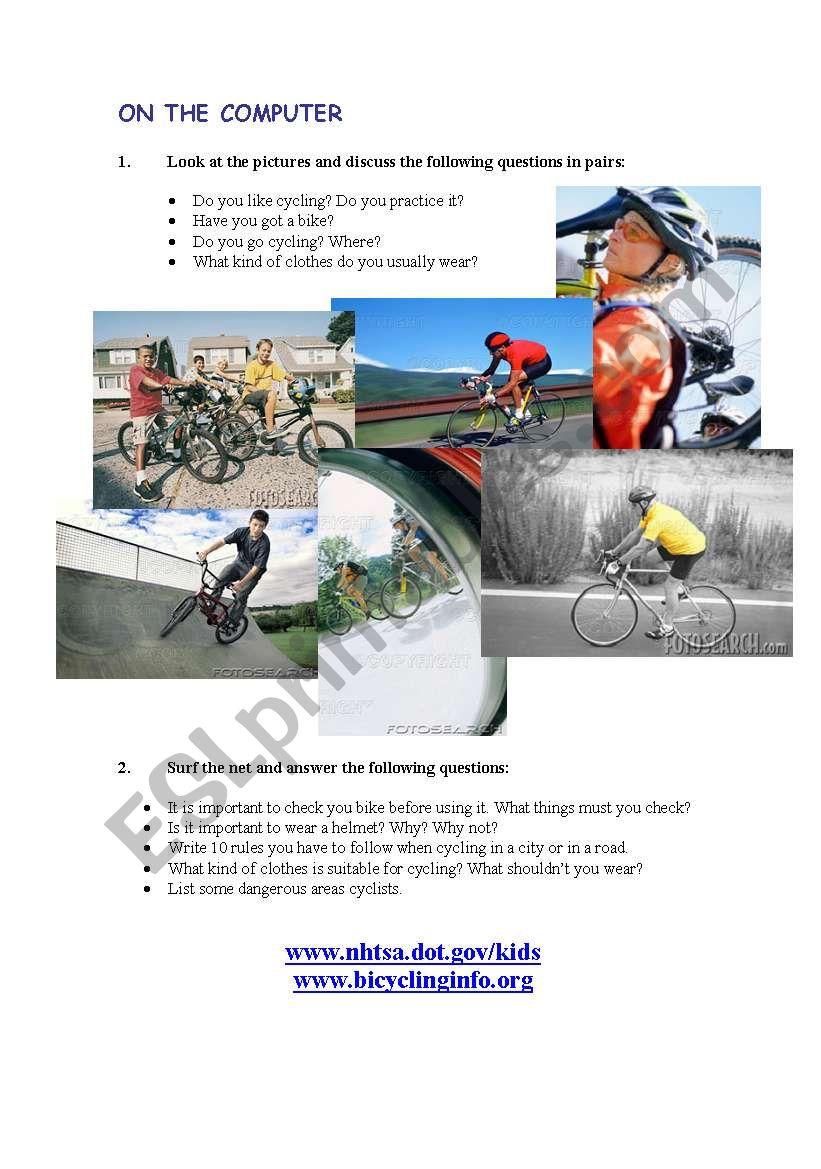 ROAD SAFETY ON THE INTERNET worksheet