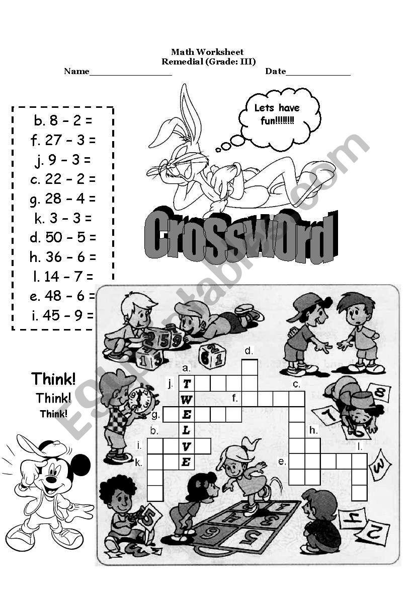 remedial classes worksheet