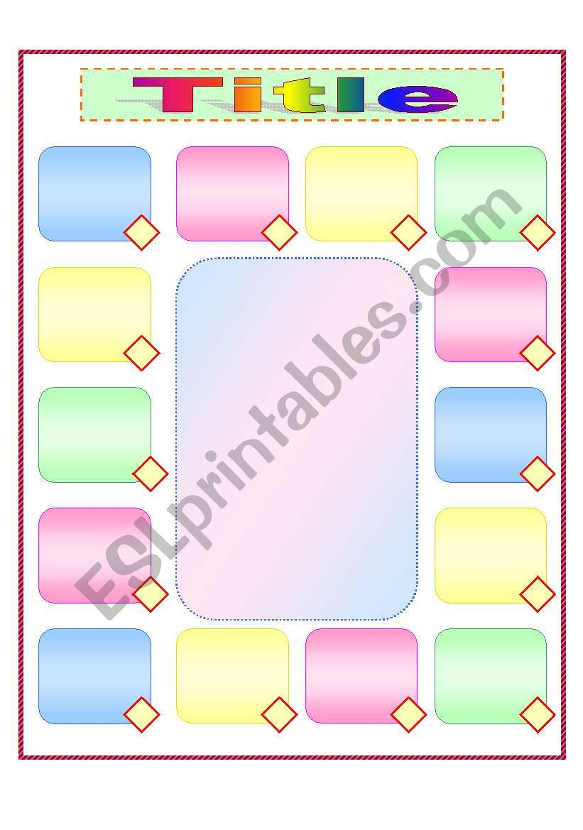 Template for a MATCHING activity