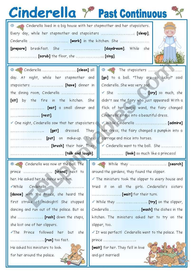 Fairy Tales/Stories (5): Cinderella - Past Continuous